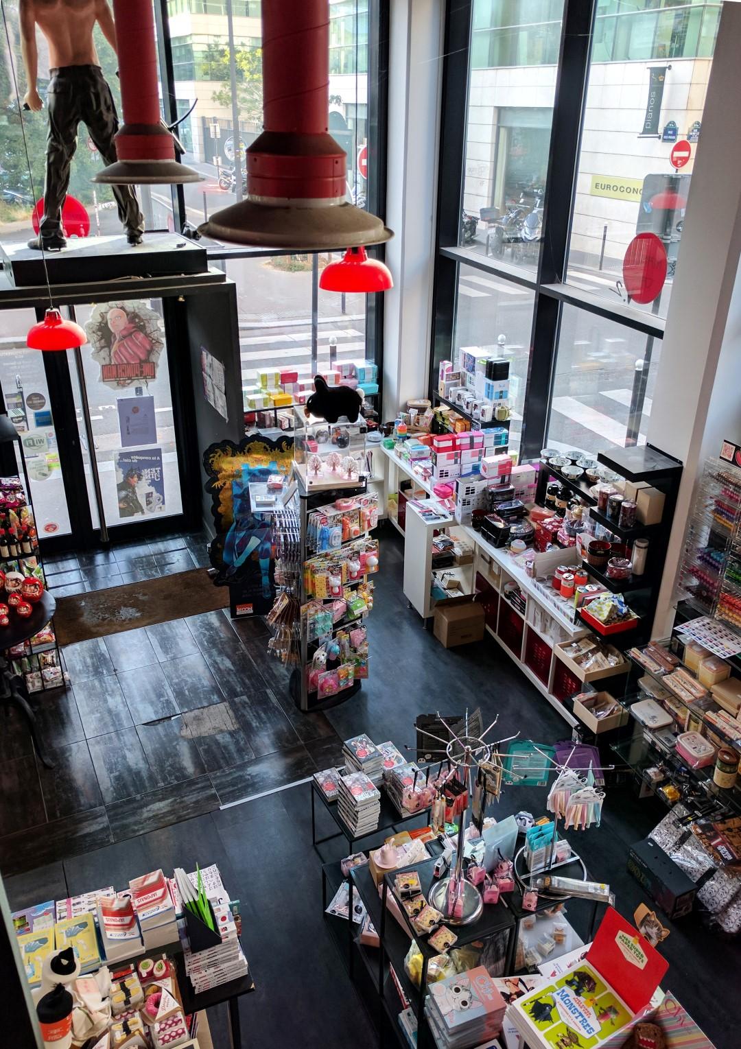 Manga Café V2 intérieur entrée vue de haut