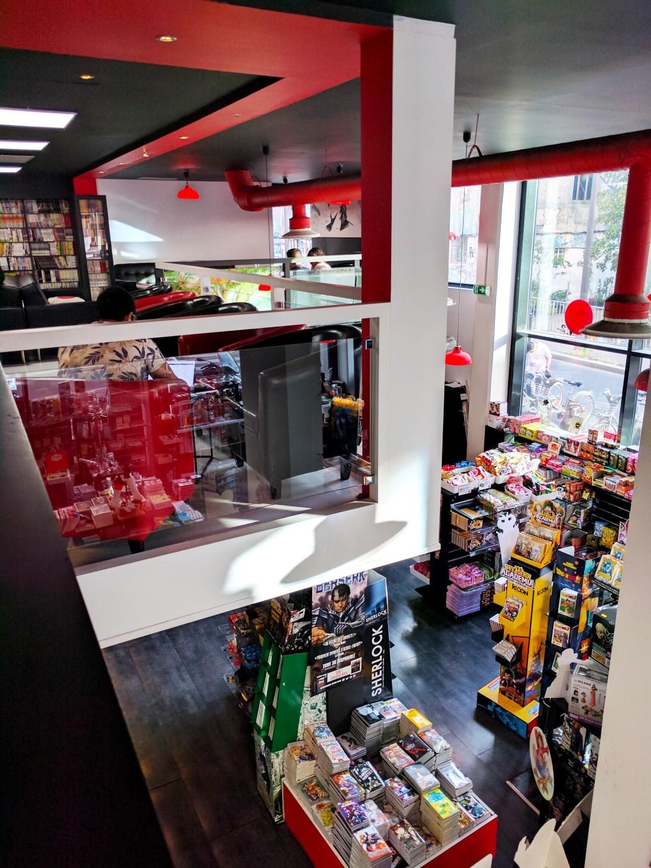 Manga Café V2 intérieur mezzanine vue