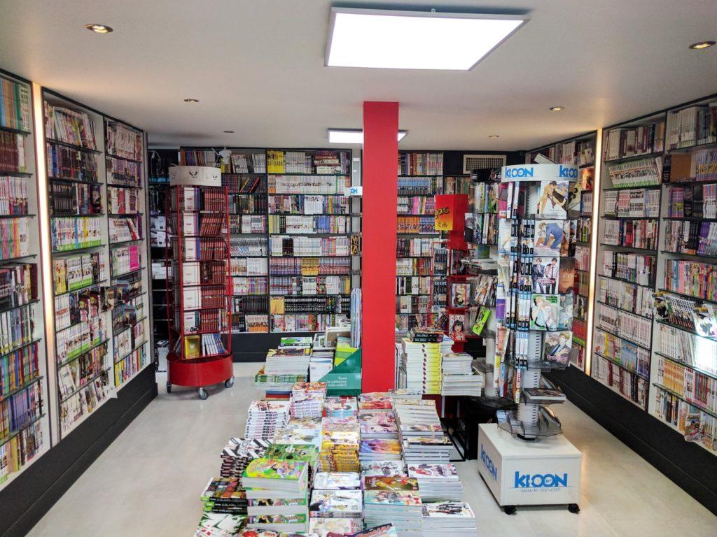 Manga Café V2 interieur RDC librairie 2