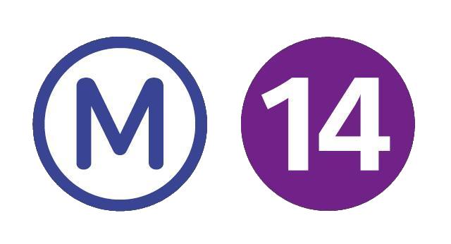 Metro ligne 14 logo