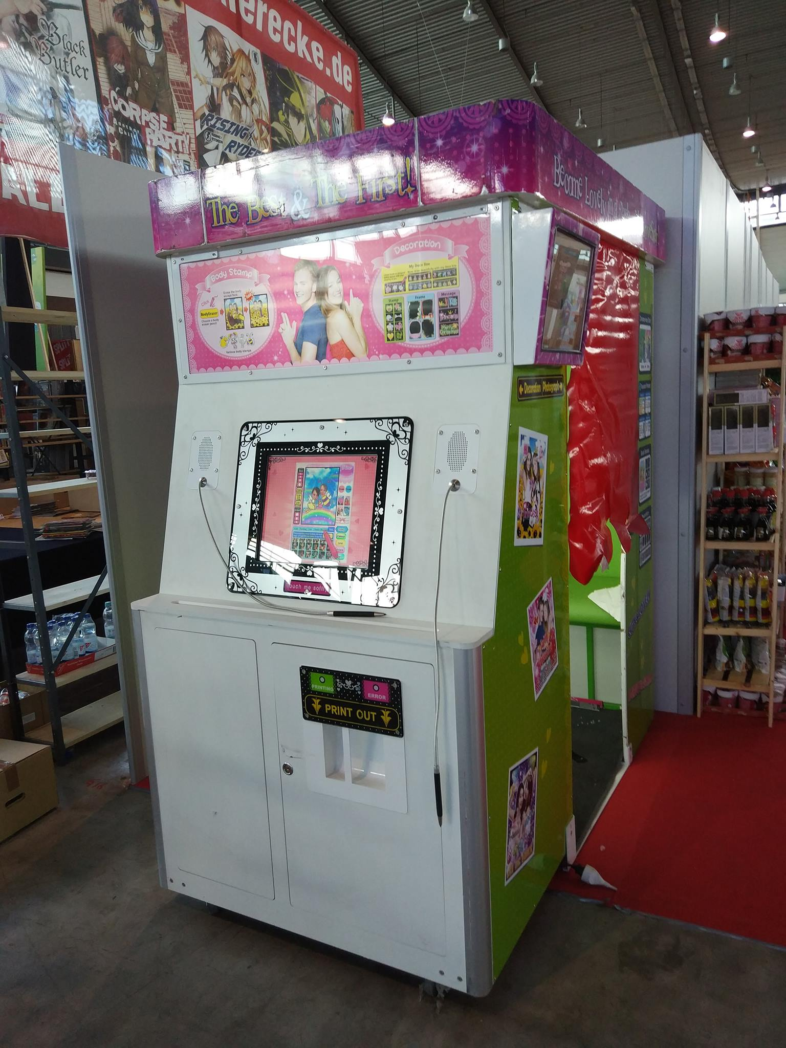 Machine Purikura en convention
