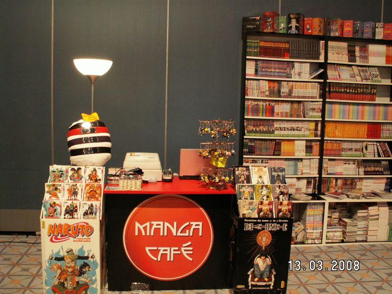 Manga Café stand en convention - deauville