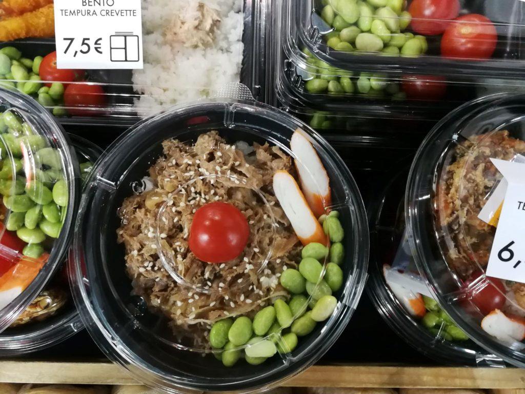 Gros plan nourriture bento jap