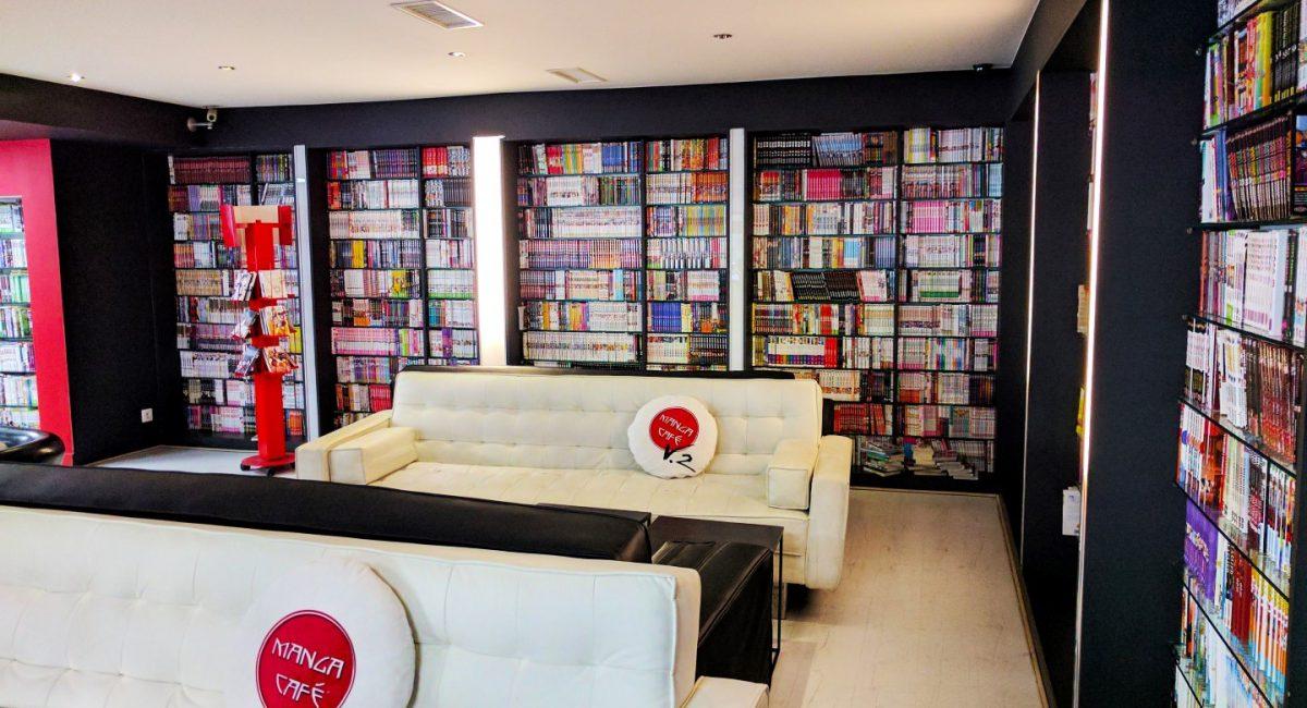 Manga Café V2 intérieur bibliothèque manga